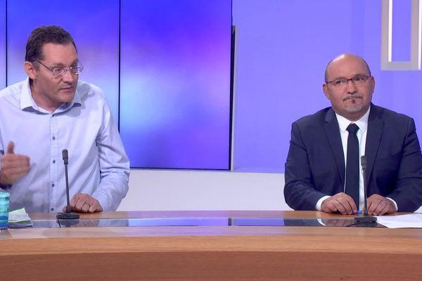 Erik Tamburi, (Div. D.) et Frédéric Boccaletti (RN).