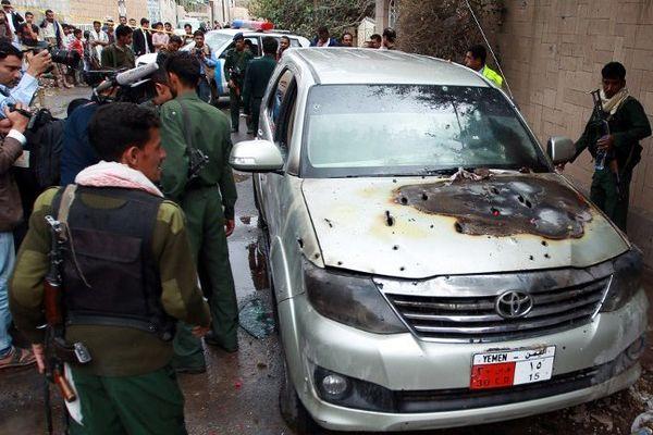 La voiture diplomatique attaquée lundi à Sanaa