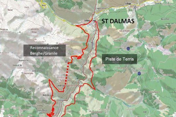 Carte des travaux en cours entre Fontan et Saint-Dalmas-de-Tende