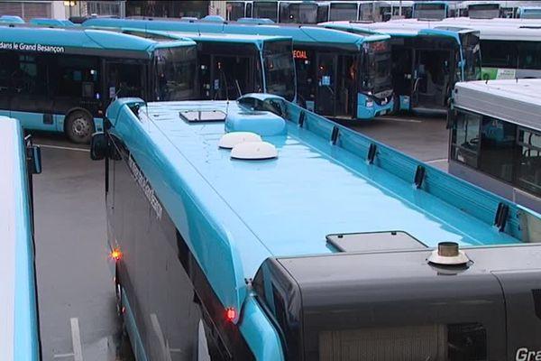 Dépôt des bus à Besançon