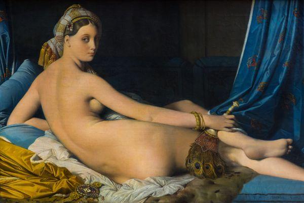 Une Odalisque, dite La Grande Odalisque de Jean-Auguste-Dominique Ingres, en 1914