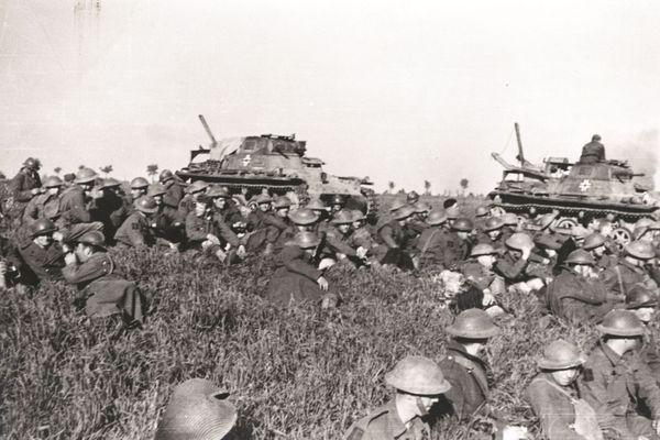 Les troupes britanniques faites prisonnières par les Allemands lors de la bataille d'Arras.