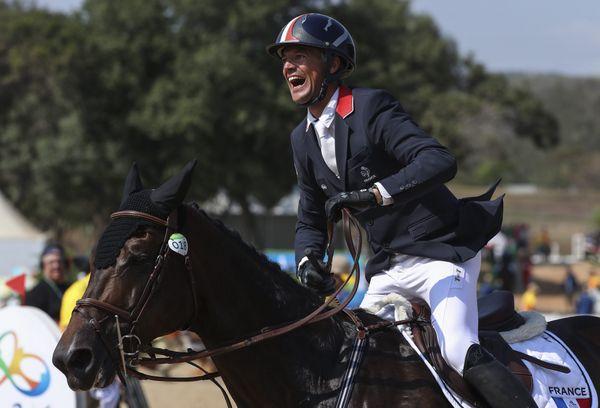 Karim Laghouag médaillé d'or en concours complet par équipe.