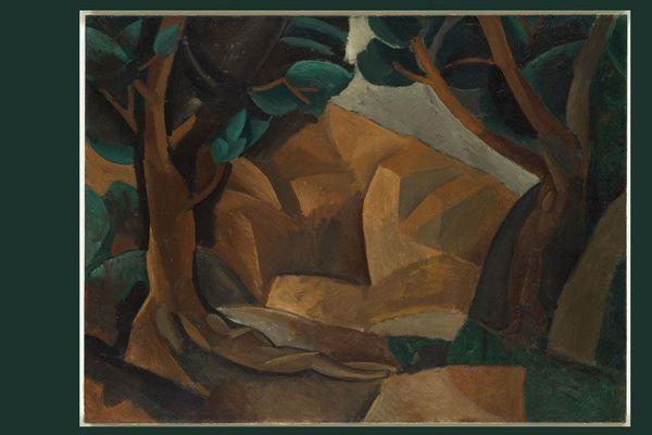 Pablo Picasso, Paysage  aux  deux  figures,  automne  1908