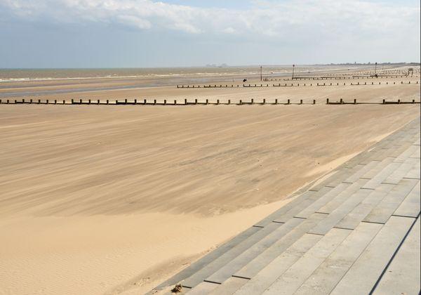 La plage de Dymchurch, près de Hythe, où les Allemands avaient prévu de débarquer.