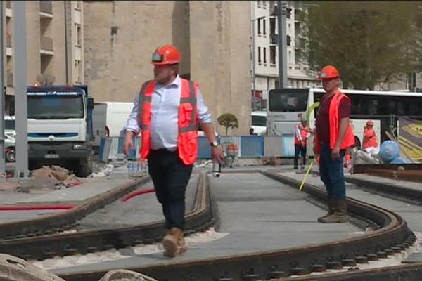 Le chantier est largement dans les temps, le tramway caennais entrera en fonction officiellement le 27 juillet prochain