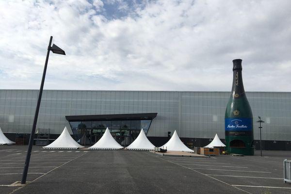 La foire de Chalons-en-Champagne ne se tiendra pas en cette rentrée 2020. Le montage des stands est à l'arrêt.
