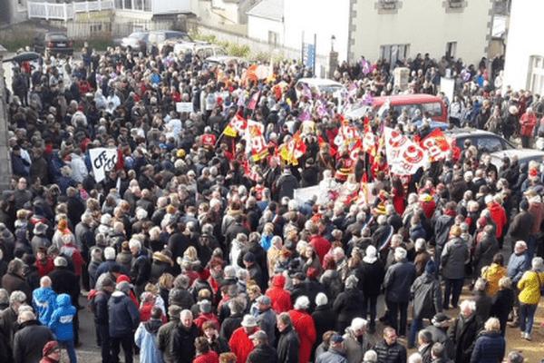 Grosse mobilisation en soutien au centre de rééducation de Perharidy à Roscoff
