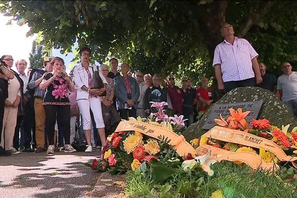 Après le dépôt de gerbe, la CGT a commémoré la mémoire Pierre Beylot et Henri Blanchet.
