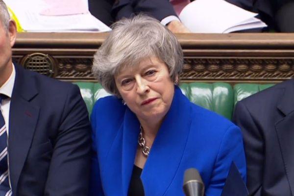 Theresa May, Première ministre britannique, a vu son accord rejeté par les députés.