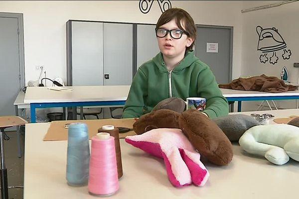 Martin 9 ans a été ému par les sorts des enfants de migrants à Besançon.