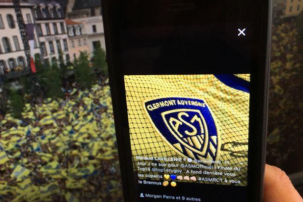 Sur les réseaux sociaux, en attendant le coup d'envoi de la finale de Top 14 entre l'ASM et Toulon, l'avant-match a commencé.