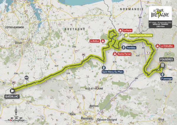 Parcours de la sixième étape du Tour de Bretagne 2021