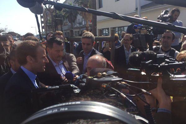 07/04/2017 - Arrivée d'Emmanuel Macron, candidat d'En Marche! à la présidentielle à San Nicolao (Haute-Corse).jpg