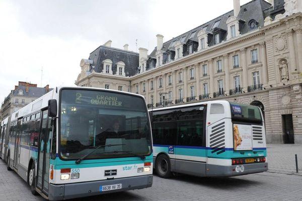 Bus à République à Rennes