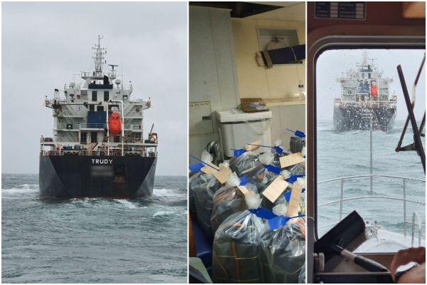 Le Trudy, intercepté avec une tonne de cocaïne à son bord le 1er octobre.