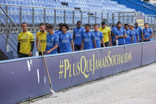Les Sochaliens lors de leur entraînement ce mardi 15 juin 2021.