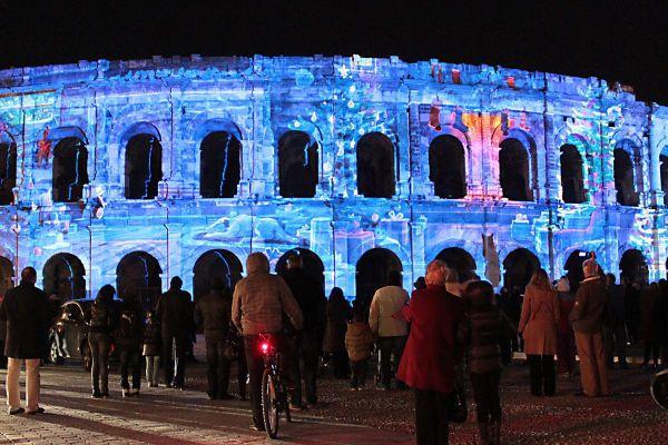 Les arènes de Nîmes illuminées 2019