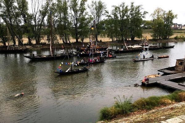 242 bateaux se sont rassemblés pour l'édition 2019 du Festival de Loire, à Orléans.