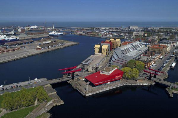 Dunkerque, vue du ciel (image d'illustration).