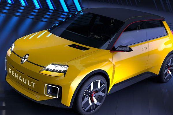 La Renault R5 Prototype, qui devrait être produite à l'usine de Douai dans le Nord.