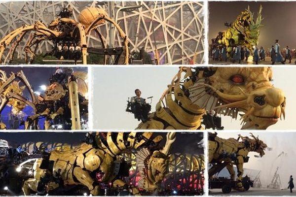 Long Ma et l'araignée géante dans les rues de Pékin