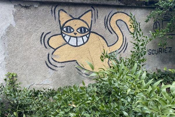 Mr.Chat une création street art.