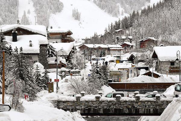 Le village de Val d'Isère le 9 janvier 2018.