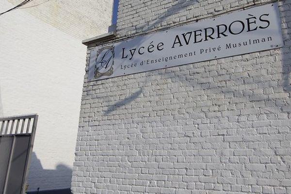 L'entrée du lycée musulman Averroès.