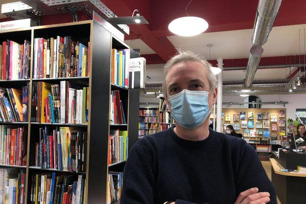 Stéphane Godefroid, gérant de la librairie La parenthèse à Nancy