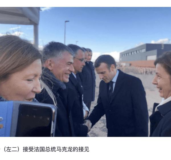 Dans la presse chinoise, l'appartenance de Philippe Folliot à la majorité présidentielle d'Emannuel Macron est mise régulièrement en avant.
