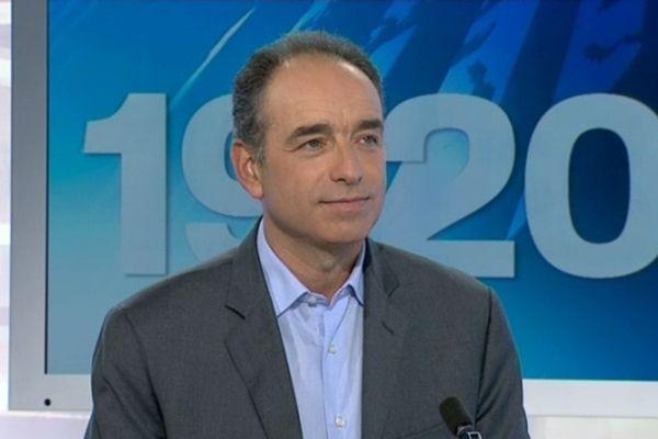 Montpellier - Jean-François Copé sur la plateau de France 3 Languedoc-Roussillon - 14 octobre 2012.