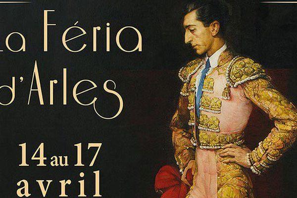 On célèbre en 2017 le centenaire de la naissance de Manolete. L'affiche de la feria d'Arles lui rend hommage.