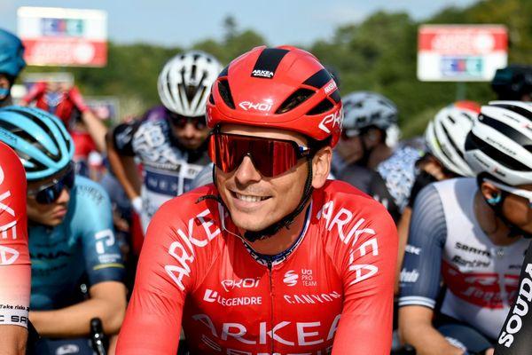 Warren Barguil, de l'équipe Arkéa-Samsic. Ici à la Bretagne Classic Ouest-France à Plouay (Morbihan) - 29 août 2021