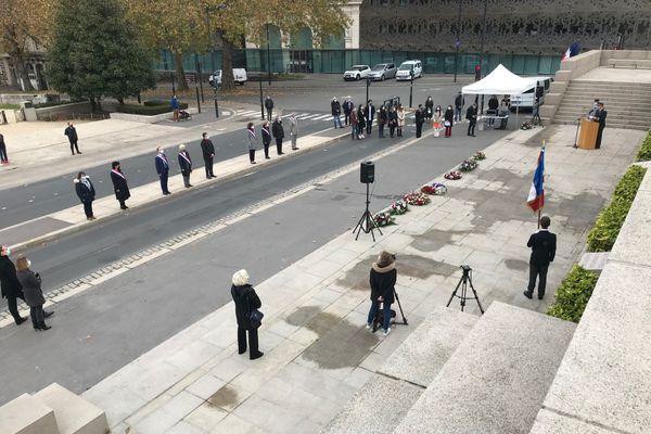 Une délégation très clairsemée pour la commémoration du 11 novembre 2020 à Nantes.