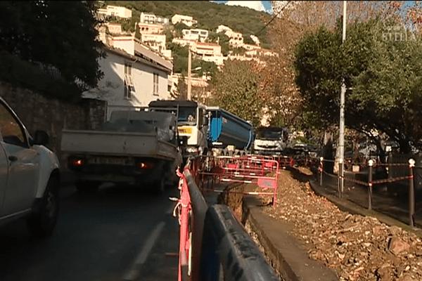 Les travaux d'EDF à San Martino di Lota paralyse l'axe principale du Cap Corse.