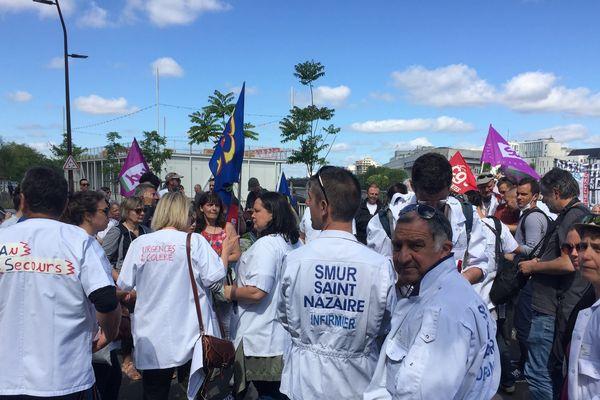 Les urgentistes devant l'ARS à Nantes pour dénoncer l'insuffisance  des annonces de la Ministre de la Santé