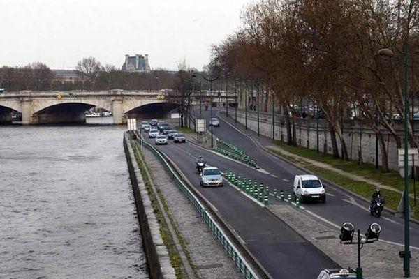 La voie Georges-Pompidou compte une fréquentation de 4000 véhicules/heure.
