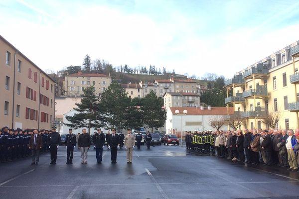 Au Puy-en-Velay (Haute-Loire) : l'hommage national rendu au Colonel Arnaud Beltrame et aux trois victimes de l'attaque terroriste de Carcassonne et Trèbes.