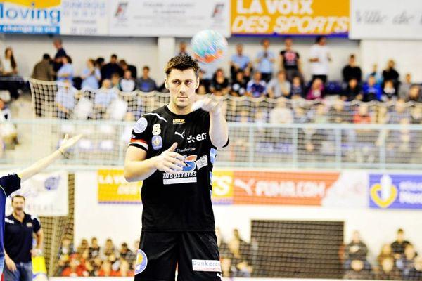 Sébastien Bosquet, arrière droit de l'USDK, en novembre 2012