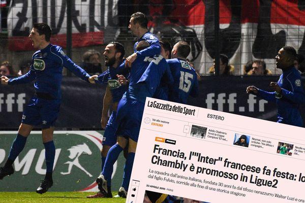 """Le FC Chambly dans """"la Gazzetta dello Sport"""""""