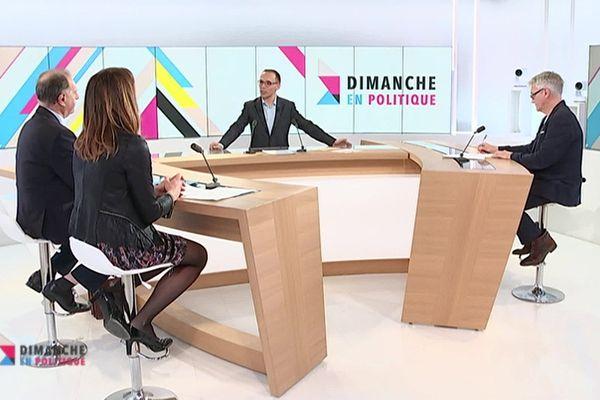 Les invités sur le plateau de l'émission Dimanche en Politique Alpes