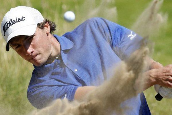 the British Open golf tournament at Royal Birkdale in Southport in north-west England, on July 15, 2008