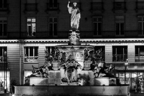 La fontaine de la place Royale à Nantes par