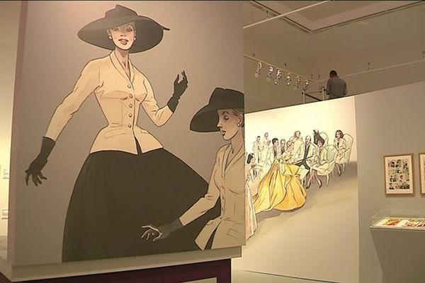 """L'exposition """"Mode et Bande Dessinée"""" est visible jusqu'en janvier 2020 au Musée de la BD à Angoulême."""