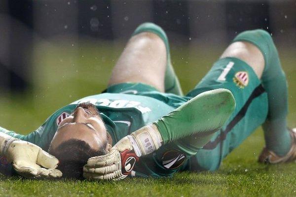 Subasic, gardien de but de l'AS Monaco, a passé une mauvaise soirée à Tottenham