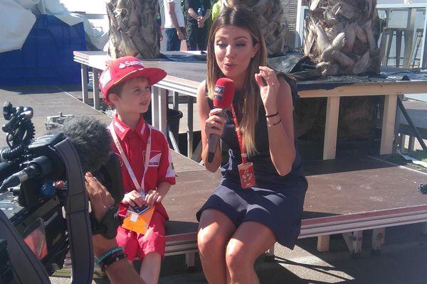 Thomas a joué les stars lors du Grand Prix d'Espagne