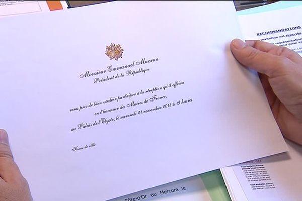 L'invitation envoyée par l'Elysée au maire de Brognon