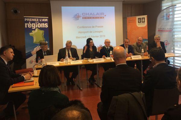 Conférence de presse Chalair, le 13 février 2019