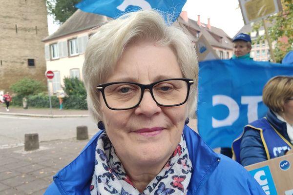 Annick Wenger, présidente du syndicat CFTC Santé Sociaux du Bas-Rhin.